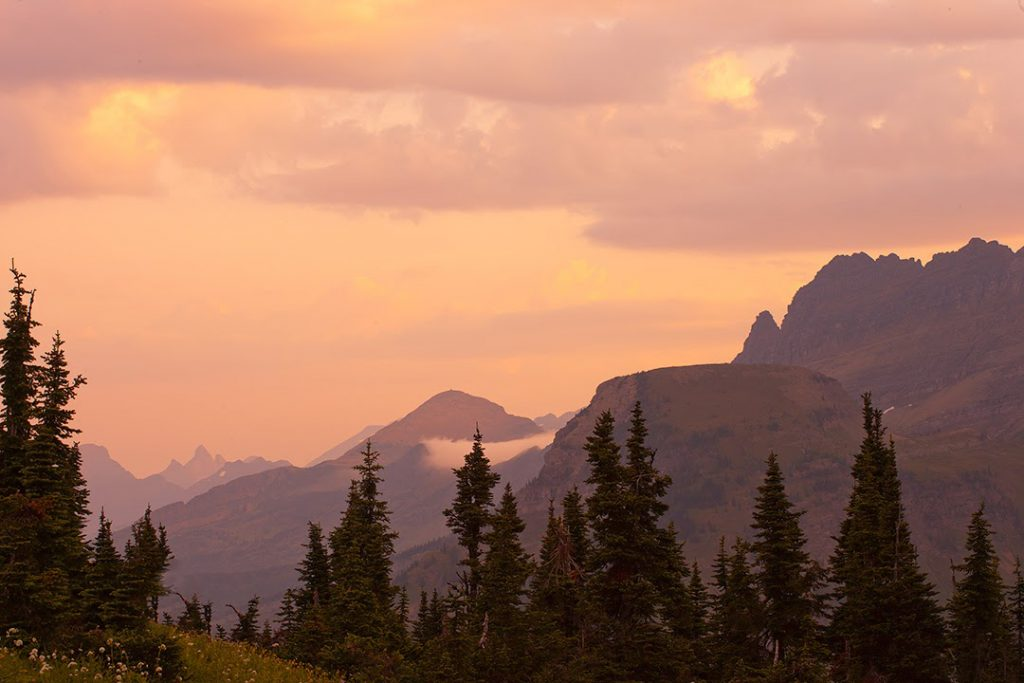 The soft light of this picture is what makes this picture special for me.   This is Logan Pass in Glacier National park at dawn.  This is a good example of the art of landscape photography.