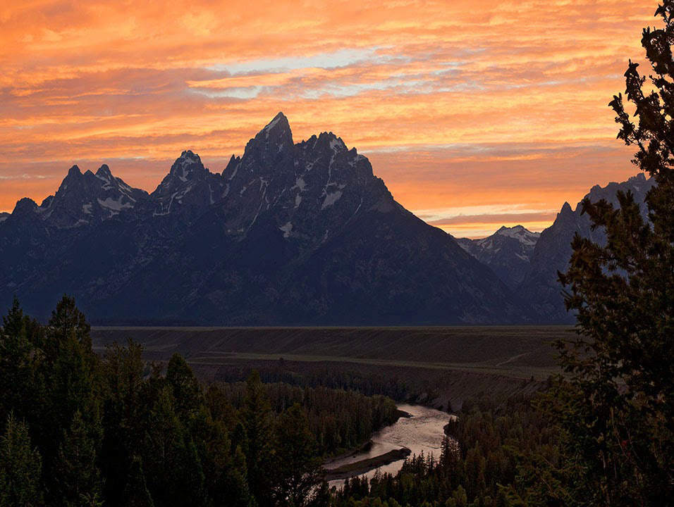 Sunset in the Tetons in Wyoming.   Places like this always remind me that there is still hope.  Maybe its not true that  the 1960s were the beginning of the end.