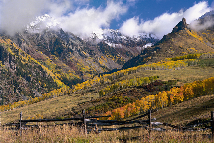 Fence and Peaks near Telluride, CO.  The end of nature will mean the end of all of this.