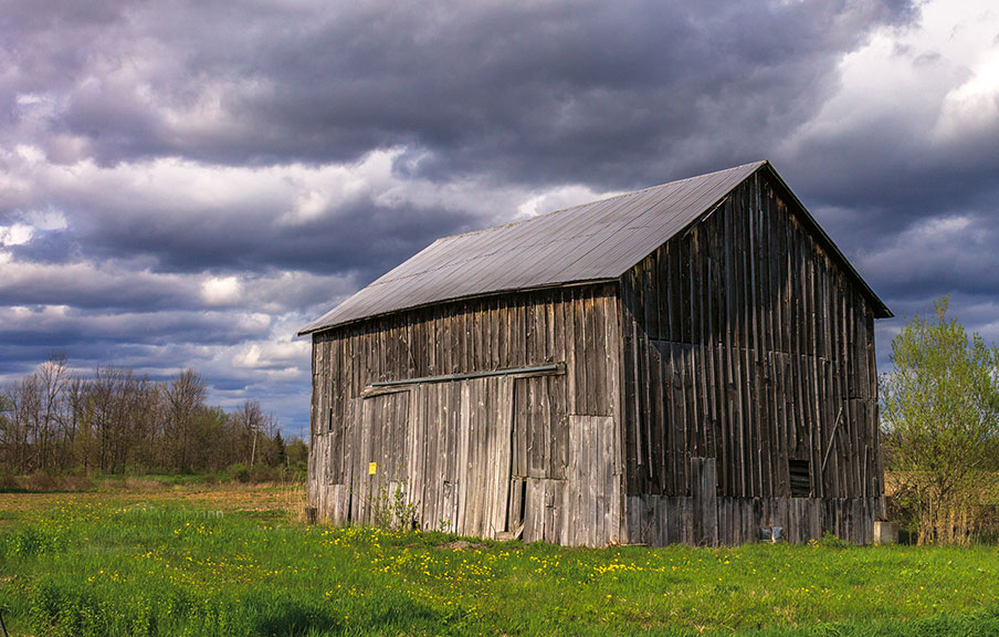 Barn and approaching storm in Upstate New York