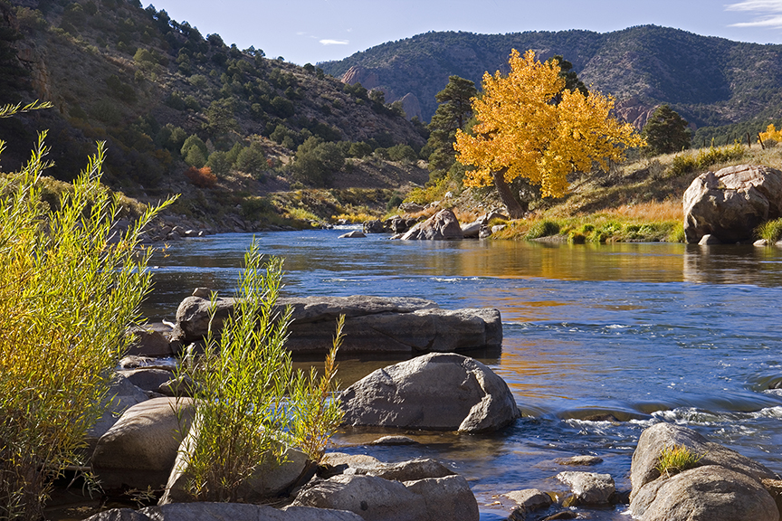 The Arkansas River in Colorado.  This article is about the best books on climate change and extinction