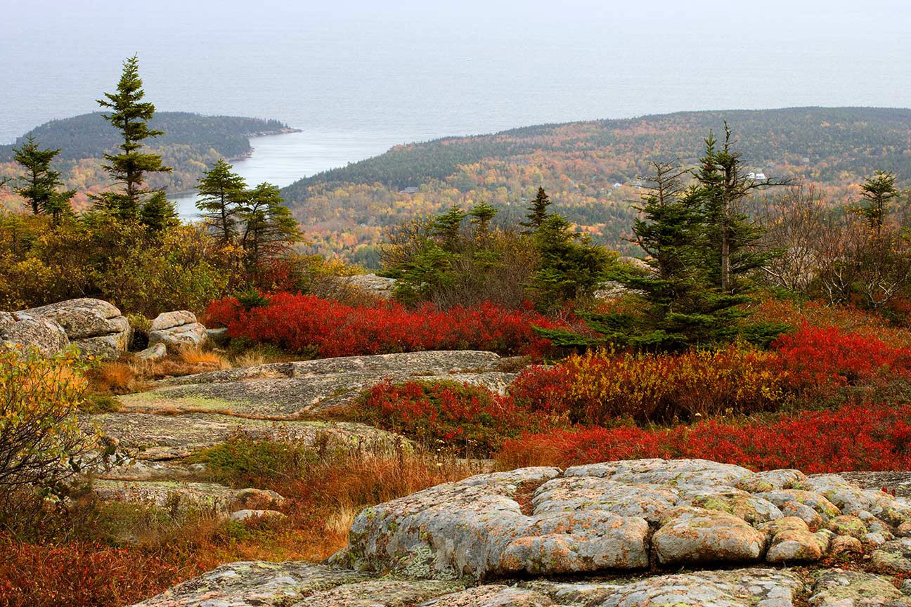 Cadillac Mountain in Acadia National Park in Northern Maine.  One of the best of our 22 favorite landscape images.