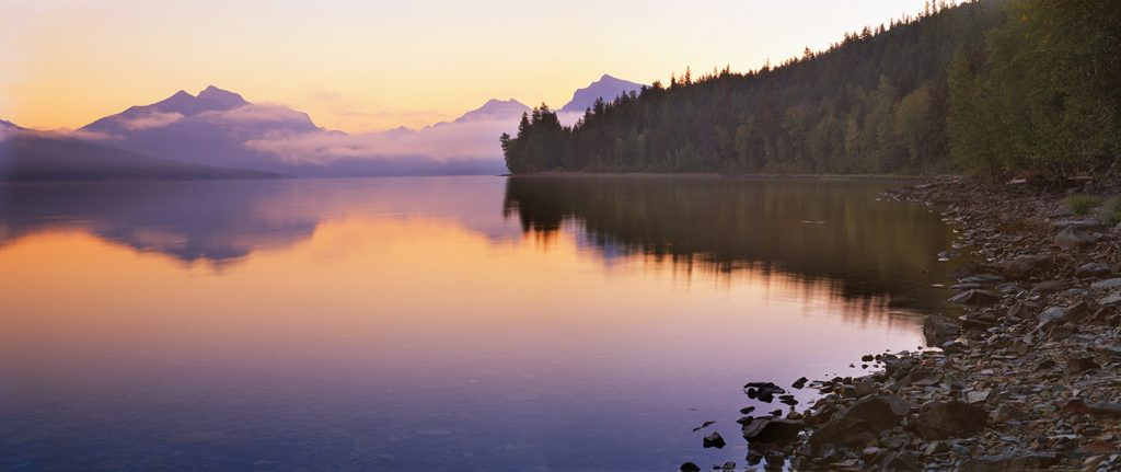 McDonald Lake inGlacier National Park in Montana.  Unfortunately Trump is winning online and this will be very bad news for places like this.
