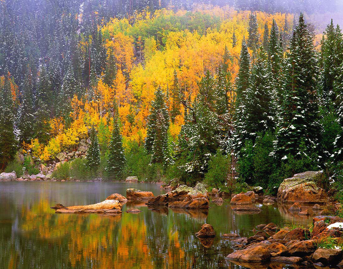 Bear Lake Autumn in Rocky Mountain National Park in Colorado.  One of the best of our 22 favorite landscape images.
