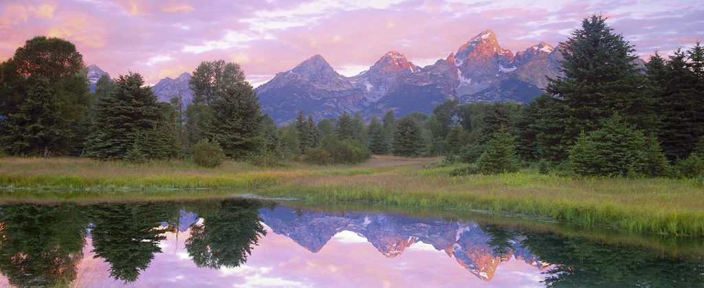 If you were an art show photographer, this is one of the two dozen or so locations in the American West where you were pretty much guaranteed a good selling art shot.  This is Schwabacker's Landing in Teton National Park.