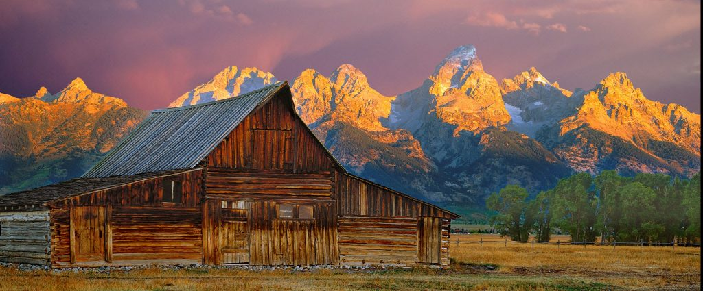 Morman barn in the Tetons at dawn.  I really like the colors in this image.  This picture works pretty well  I think.
