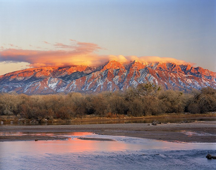 The Sandia Mountains and the Rio Grande River.  We sold both photography and and pottery in art shows at the Albuquerque Balloon Fiesta for many years.