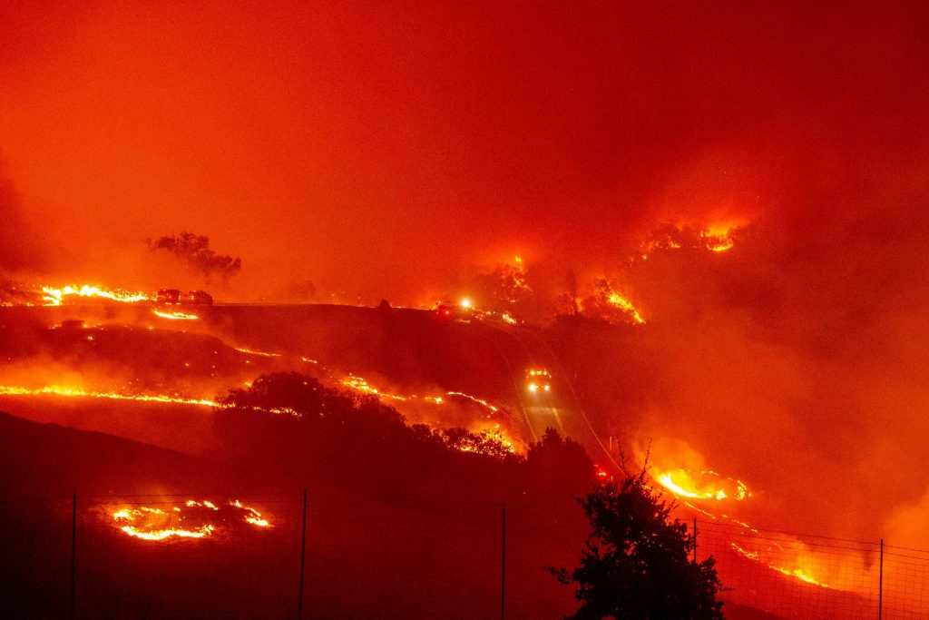 The Kinkaid fire that is currently burning in Northern California