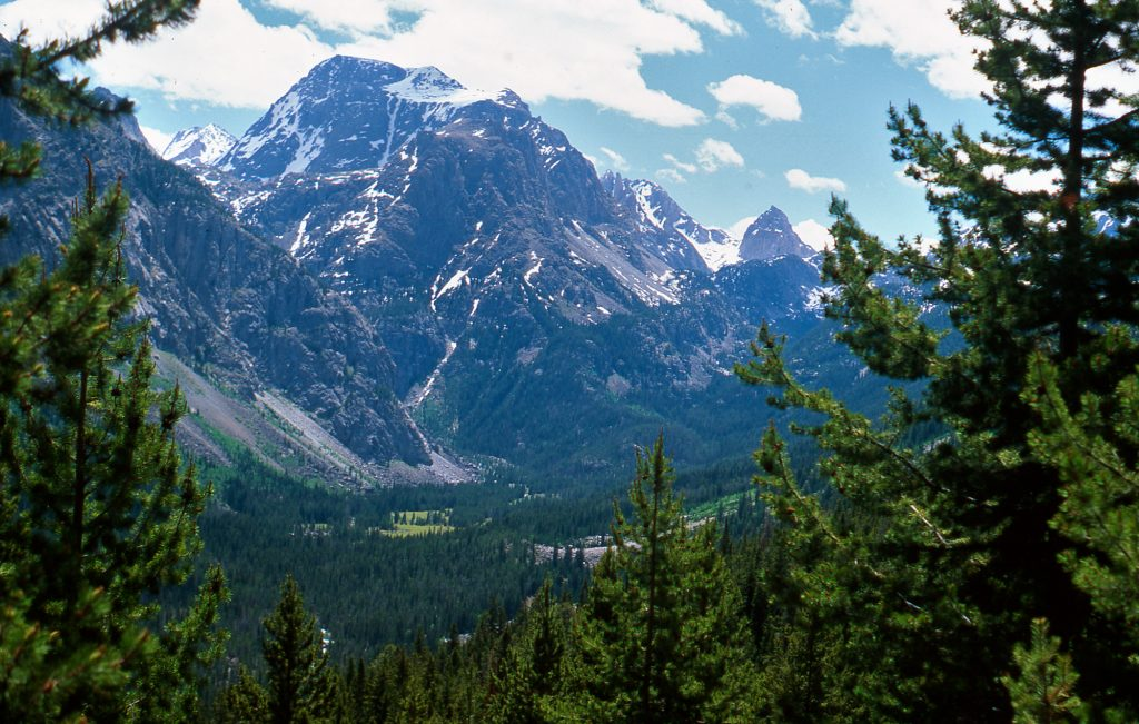 Ladd Peak in the Wind River Mountains in Wyoming