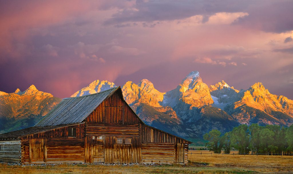 Barn in Teton National Park.  Cheer up with a free screen saver of this image.