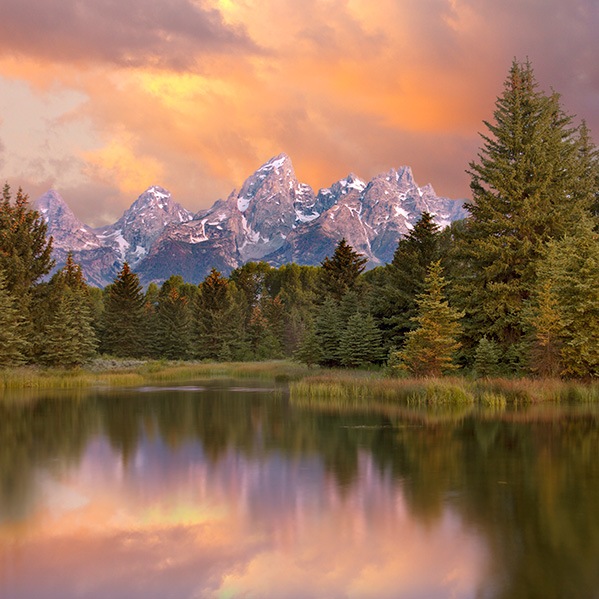 he Tetons at Schwabacker's Landing on a stormy sunset day.  This post is about Youthful misadventures: Living the Good Life.  But as usual, I illlustrate it with images of natural America.  Living the good life was always about living in natural America.