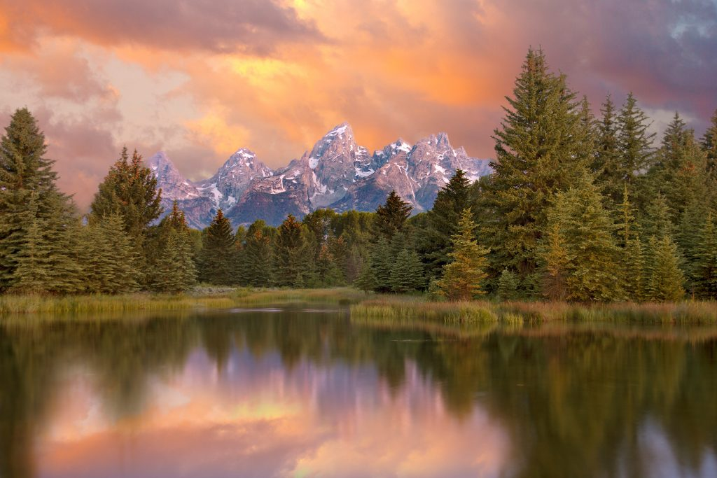 The Tetons at dawn in Wyoming.  What Trump did in Ukraine and what it means matters for places like this.