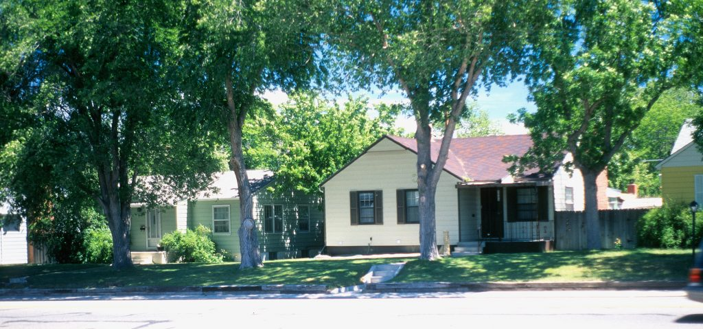 The small town neighborhood where  I lived  in Casper Wyoming
