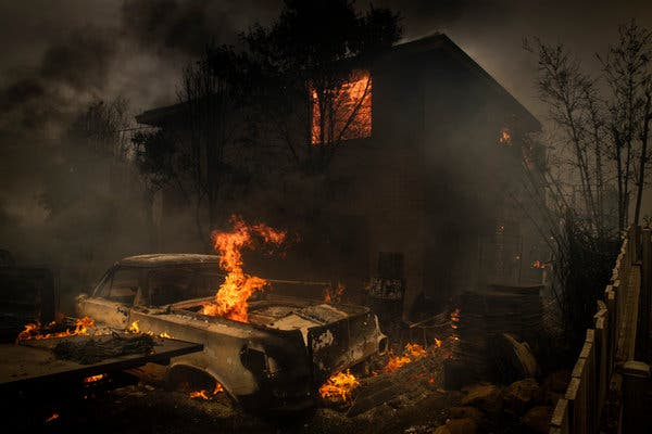 Many homes have burned in the Australian wildfire.