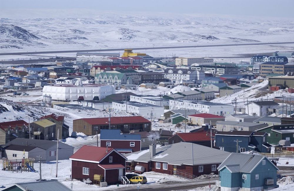 But there are towns in Nunavut also, like it's capital  Iqualuit.    The Inuit people have the Highest Suicide rate in the world