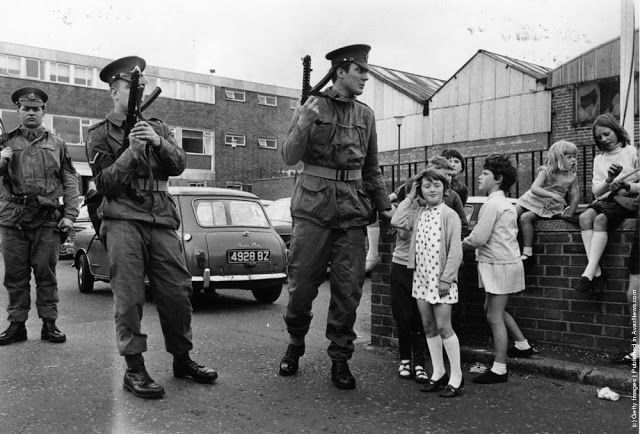 Northern Ireland during the troubles.
