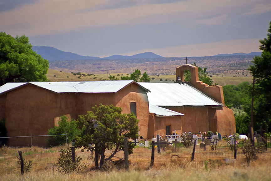 Church in Hernandes NM.  This is the church that Ansel Adams turn into his famous picture Moonlight over Hernandes.  The church is just north of Espanola, NM.  I haven't seen this church for 40 years, I guess it's still there.
