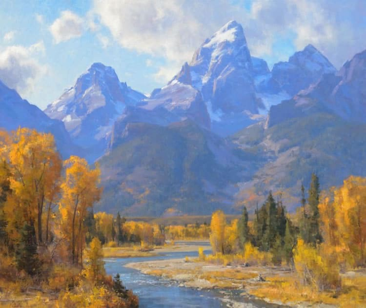 One of my favorite painting of The Tetons.