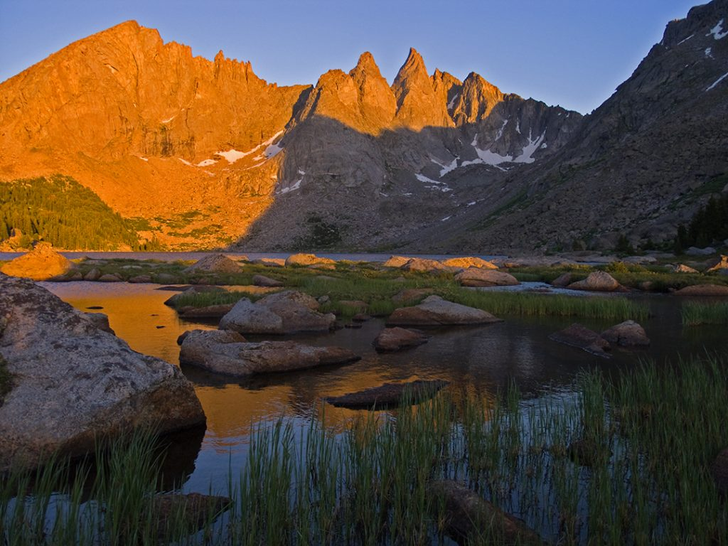 Shadow Lake at Sunset in the Wind Rivers of Wyoming.  Republicans are gaming the pandemic.  If they can't be stopped, many fewer Americans will live to visit beautiful places like this one.