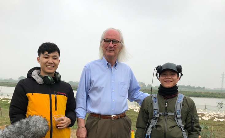 Dennis Carroll was in Vietnam being filmed for the recent Netflix documentary series Pandemic.  He  took a moment to pose with two members of the Vietnamese crew