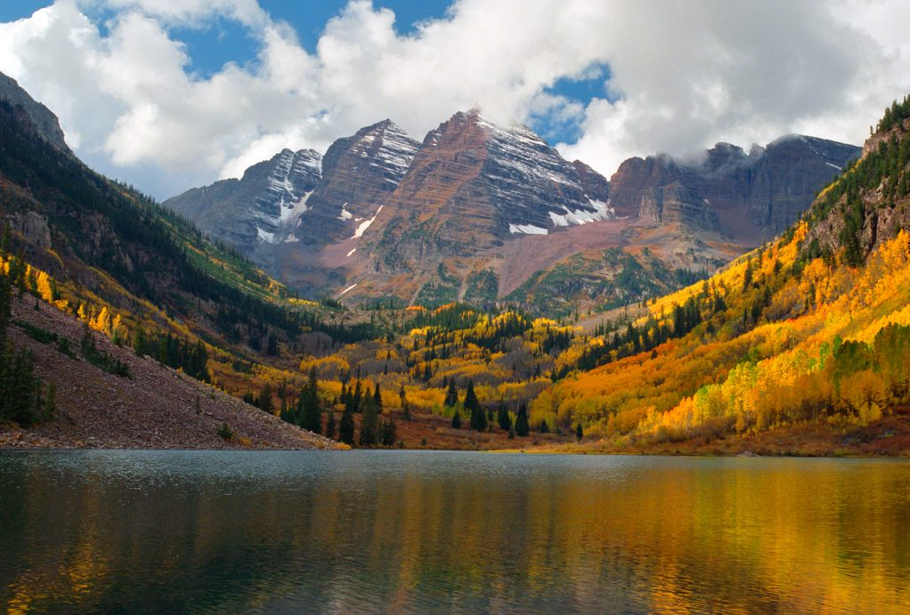 The Maroon Bells near Aspen Colorado.  While we are thinking about How to save the world in 1000 beautiful images, remember that places like this will be some the first to be destroyed as the world heats up.
