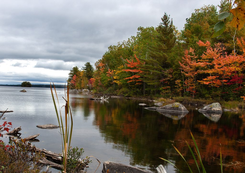 The North Woods in Maine is vast and beautiful.  This is one small lake of hundreds.