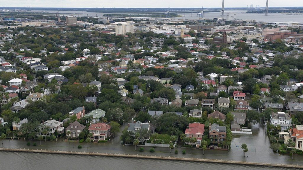 Flooding-in-Charleston-South-Carolina- in 2016.  The seas are rising faster and faster all over the world.  We can see signs of the end of nature everywhere these days.