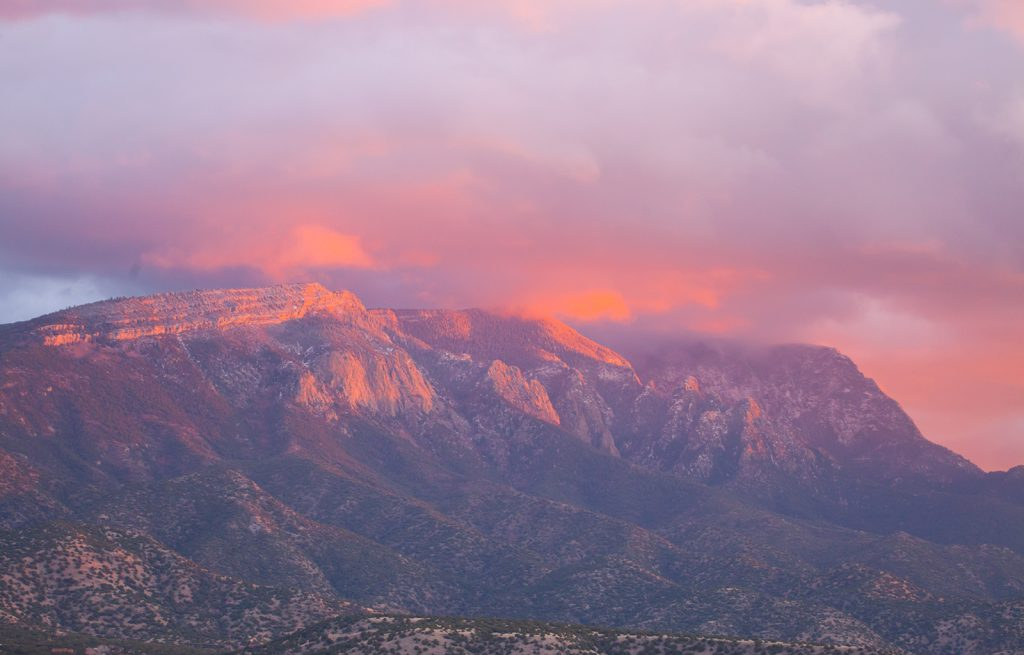 The Sandia Mountains from Placitas where I live now.   I have always lived in places like this between the Great Plains and the Rockies.