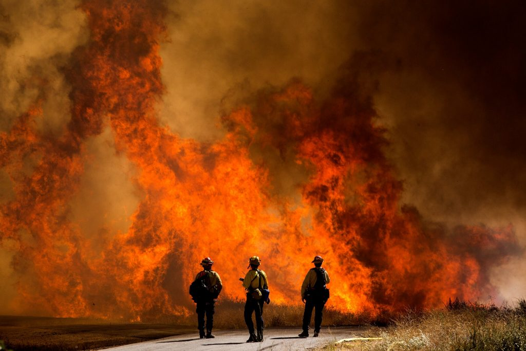 The Apple-Fire-in-California.  Even slightly smokey air is dangerous