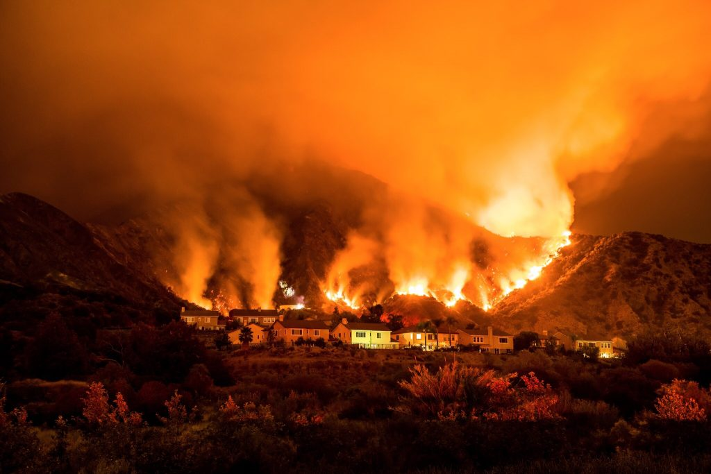 The 2020 Ranch 2 fire in California.  Even slightly smokey air is dangerous