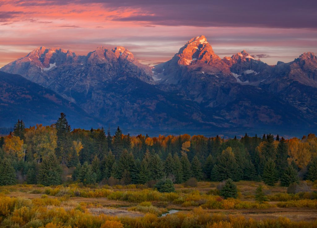 Grand Teton from Black Tail Buttes overlook.   I have always lived in places like this between the Great Plains and the Rockies.