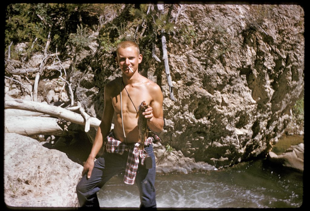 Here I am as a cocky, 19 year old boy at the bottom of Outlaw Canyon.   I have always lived in places like this between the Great Plains and the Rockies.