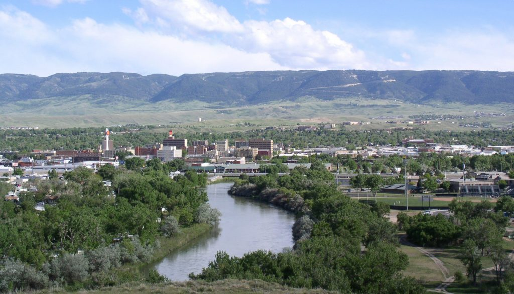 Casper Wyoming with the North Plate in the foreground and Casper Mountain in the background.   I have always lived in places like this between the Great Plains and the Rockies.