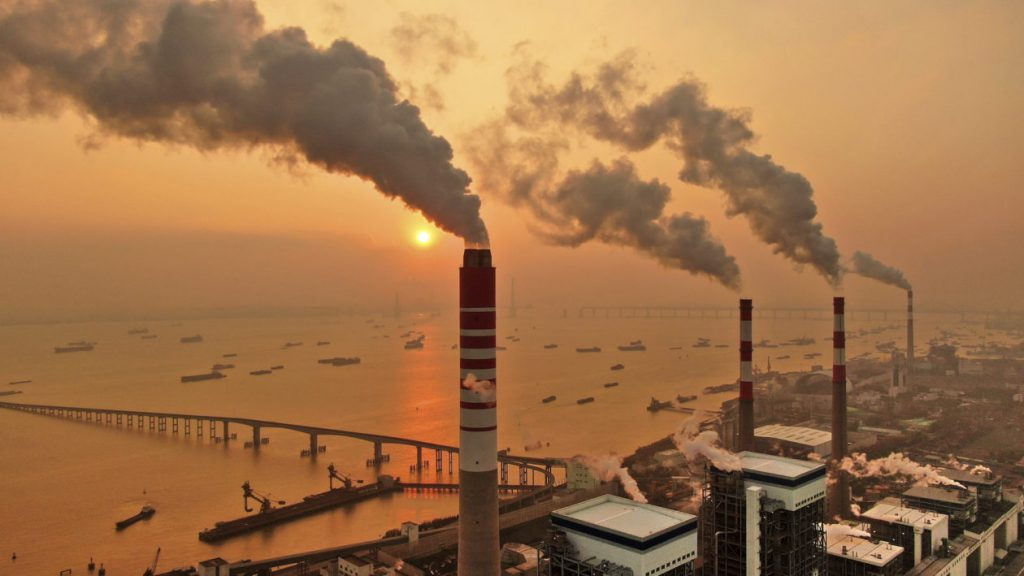 A coal fired plant in China