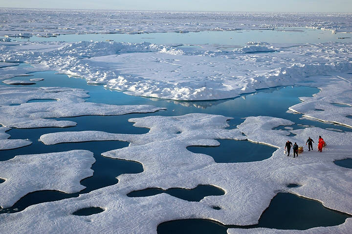 The Arctic Ocean will soon be ice-free in the summers.Pine Island Glacier is disintegrating